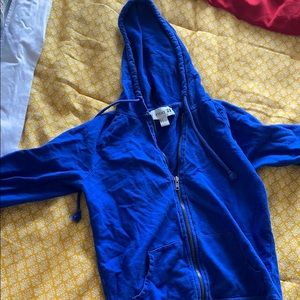 forever 21 blue hoodie size small